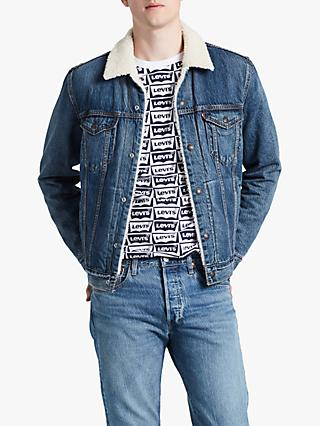 Levi's Sherpa Denim Trucker Jacket, Mayze