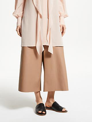 Modern Rarity Leather Culottes, Brown