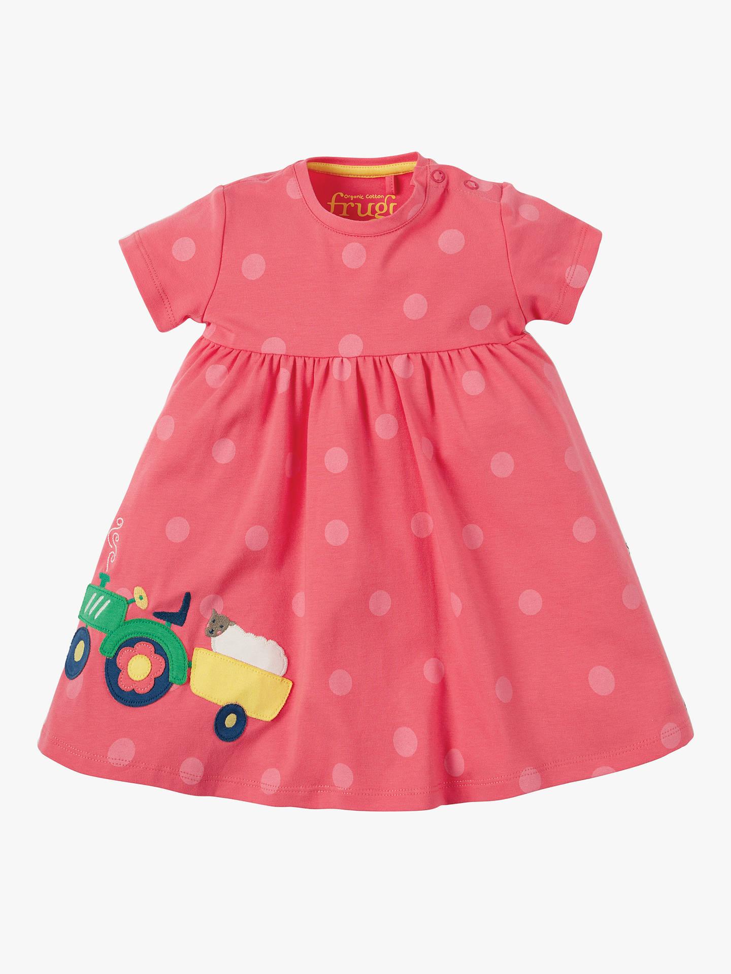 6163342a4 Frugi Baby Organic Cotton Tractor Spot Dress