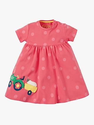 1294365c34 Frugi Baby Organic Cotton Tractor Spot Dress