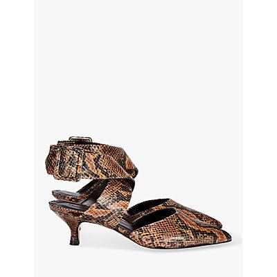 Finery Jenni Cross Strap Kitten Heel Court Shoes