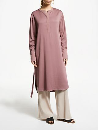 Modern Rarity Tie Waist Tunic Dress, Pink