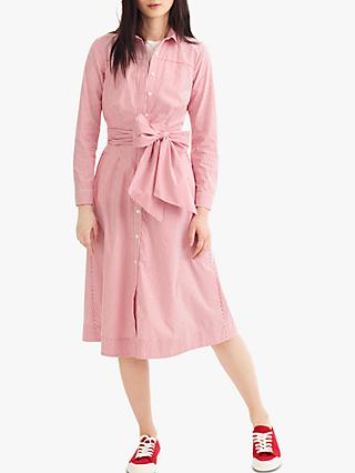 J.Crew Maribou Shirt Dress, Provence Red