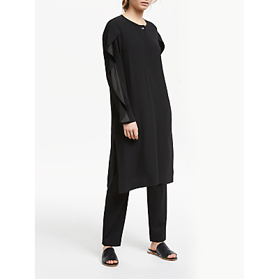 Modern Rarity Ruffle Sleeve Dress, Black