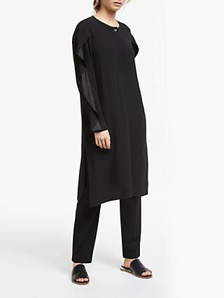 Modern Rarity Ruffle Sleeve Dress, Black