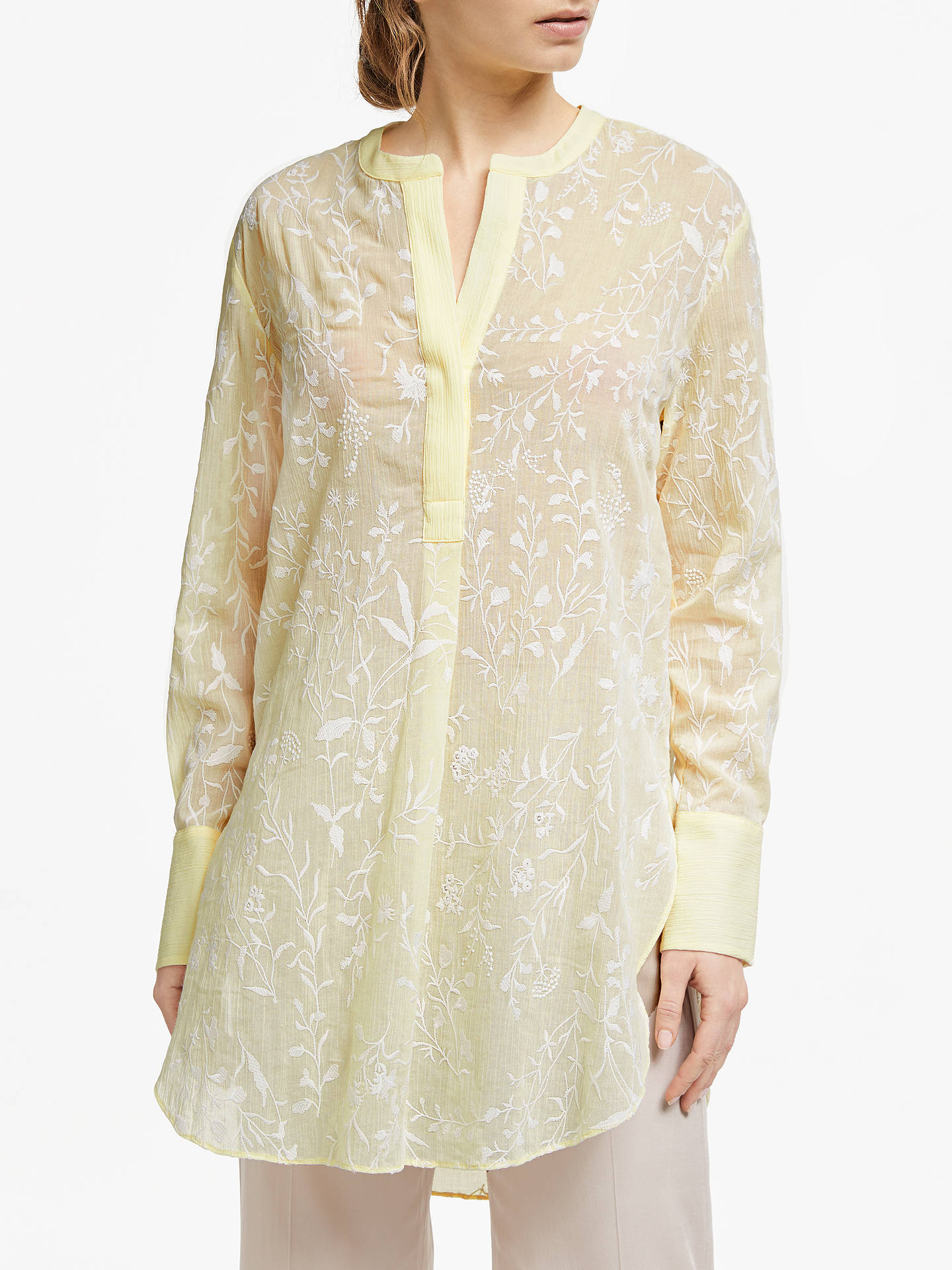 pick up release date amazing selection Modern Rarity Archive Embroidered Tunic Top, Yellow at John ...