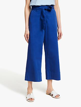 John Lewis & Partners Crop Wide Leg Chinos