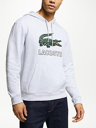 7d98eb14f1 Lacoste Logo Hoodie, Argent Chine