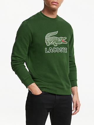 10bb6f398af Lacoste Croc Logo Crew Neck Sweatshirt