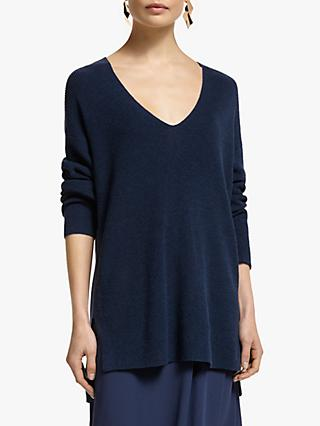 John Lewis & Partners V-Neck Long Sweater