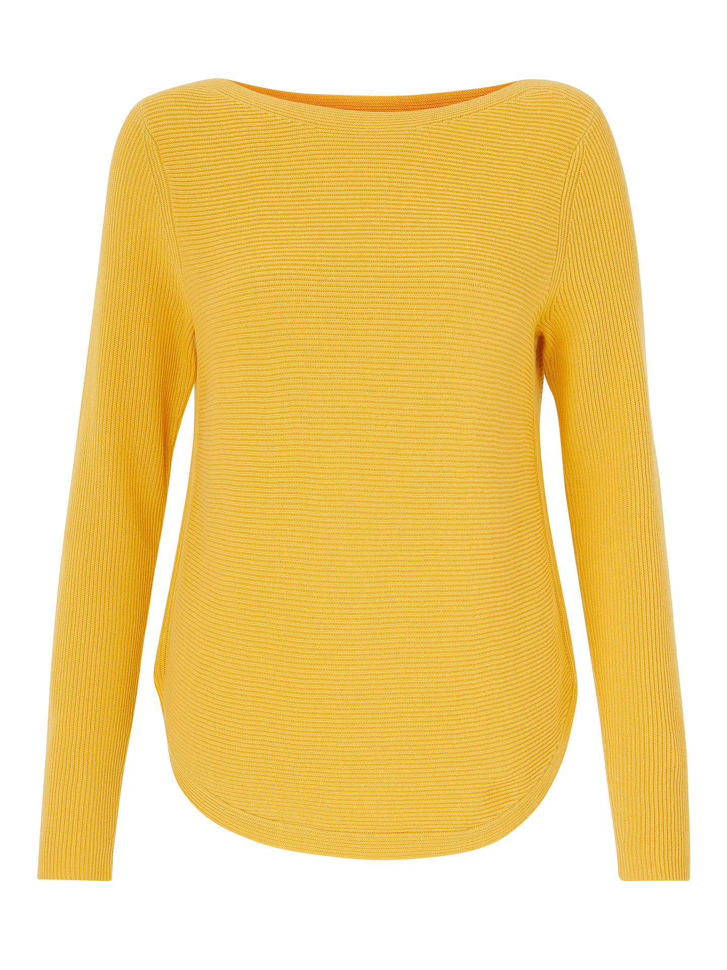 BuyJohn Lewis & Partners Rib Stitch Boat Neck Jumper, Mimosa Yellow, 8 Online at johnlewis.com