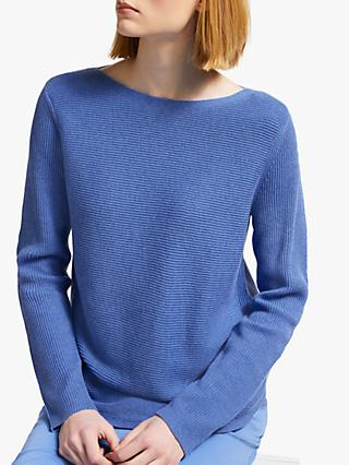 John Lewis & Partners Rib Stitch Boat Neck Jumper