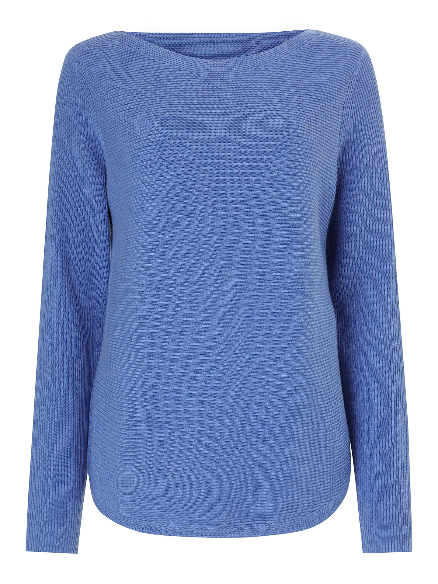 BuyJohn Lewis & Partners Rib Stitch Boat Neck Jumper, Ultramarine Blue, 10 Online at johnlewis.com