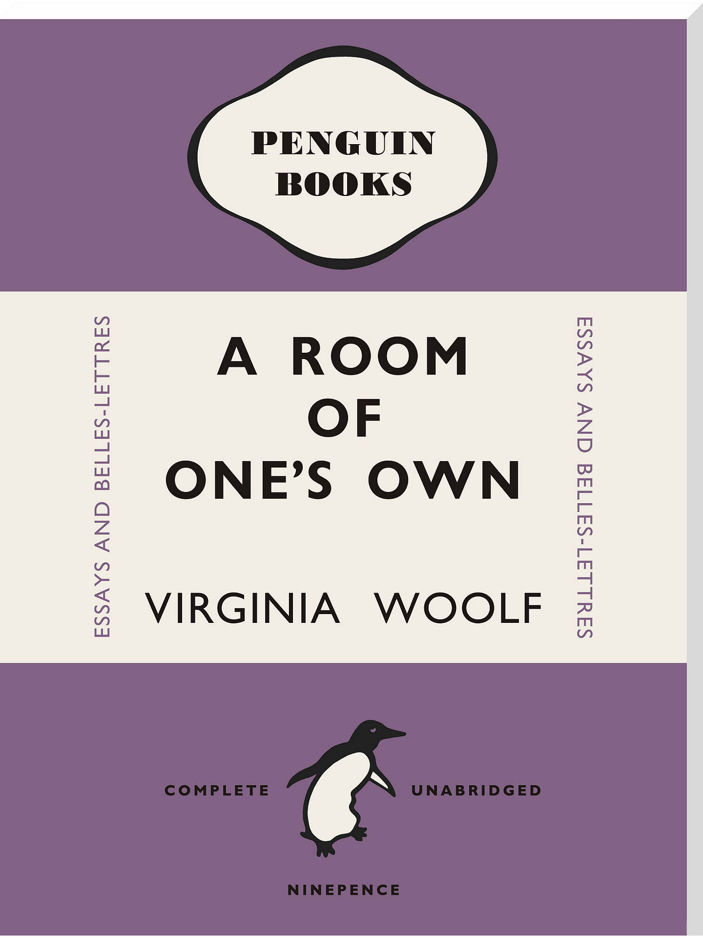 Buy Penguin Books - Virginia Woolf A Room Of One's Own, Stretched Canvas, 60 x 45cm Online at johnlewis.com
