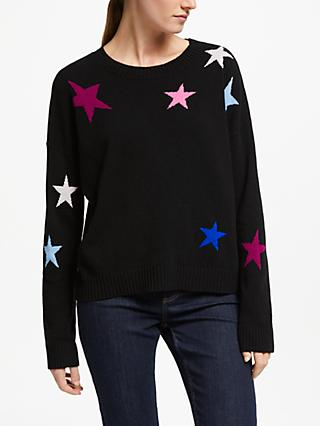 Rails Wool Rich Presley Star Jumper, Black