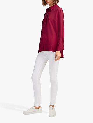 French Connection Crepe Pleat Hem Shirt