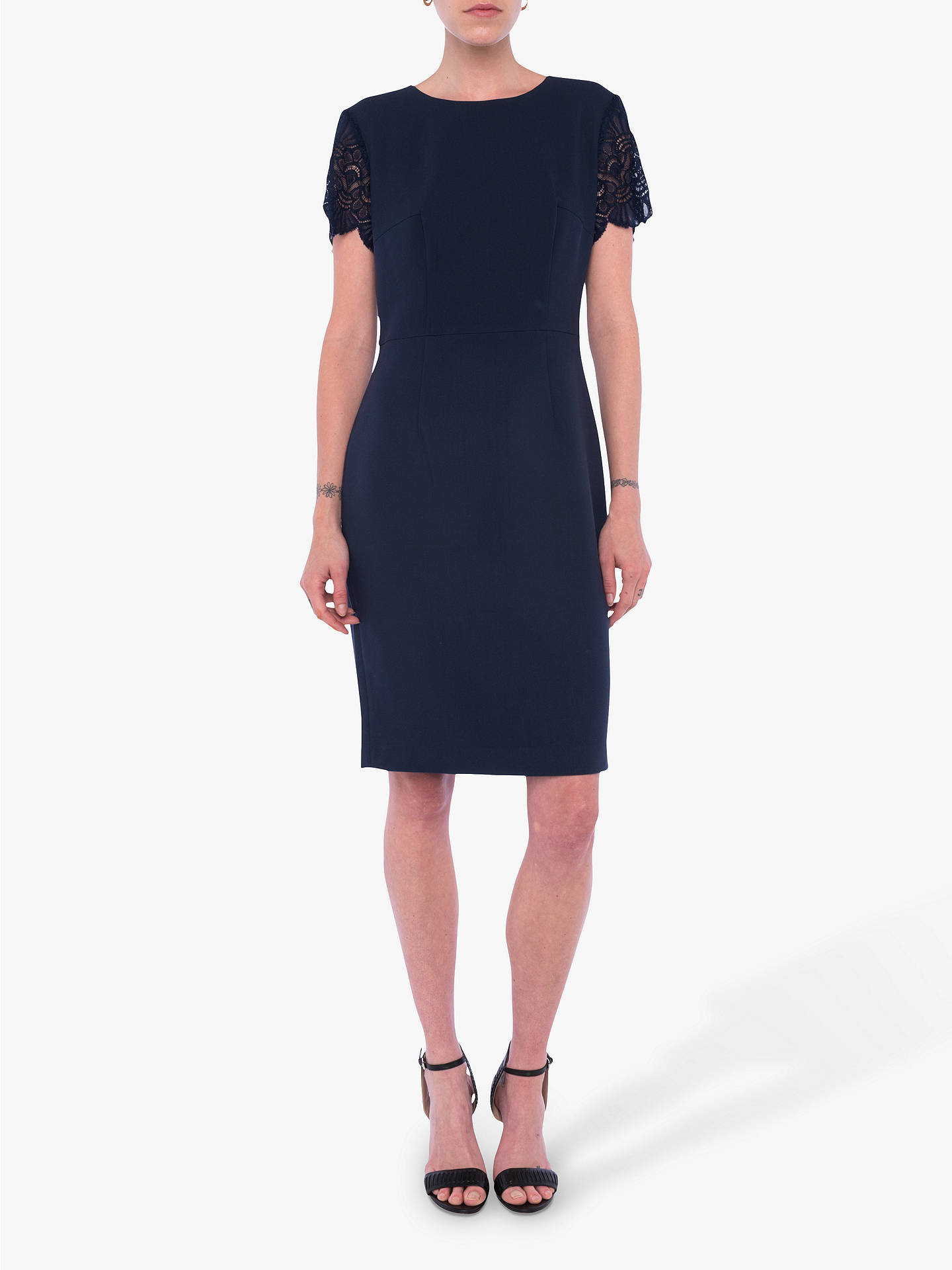 e4ad1f9d1a6f Buy French Connection Whisper Ruth Bodycon Dress, Nocturnal, 8 Online at  johnlewis.com ...