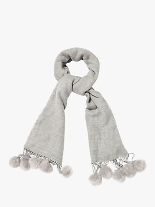 Phase Eight Samara Edge Scarf, Light Grey, One Size