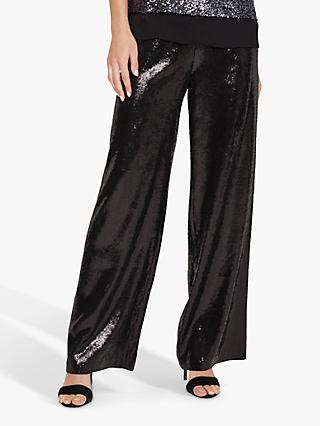 Phase Eight Sequin Kay Trousers, Black