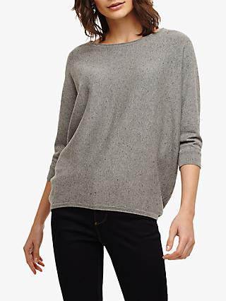 Phase Eight Becca Batwing Knit Jumper, Grey Marl