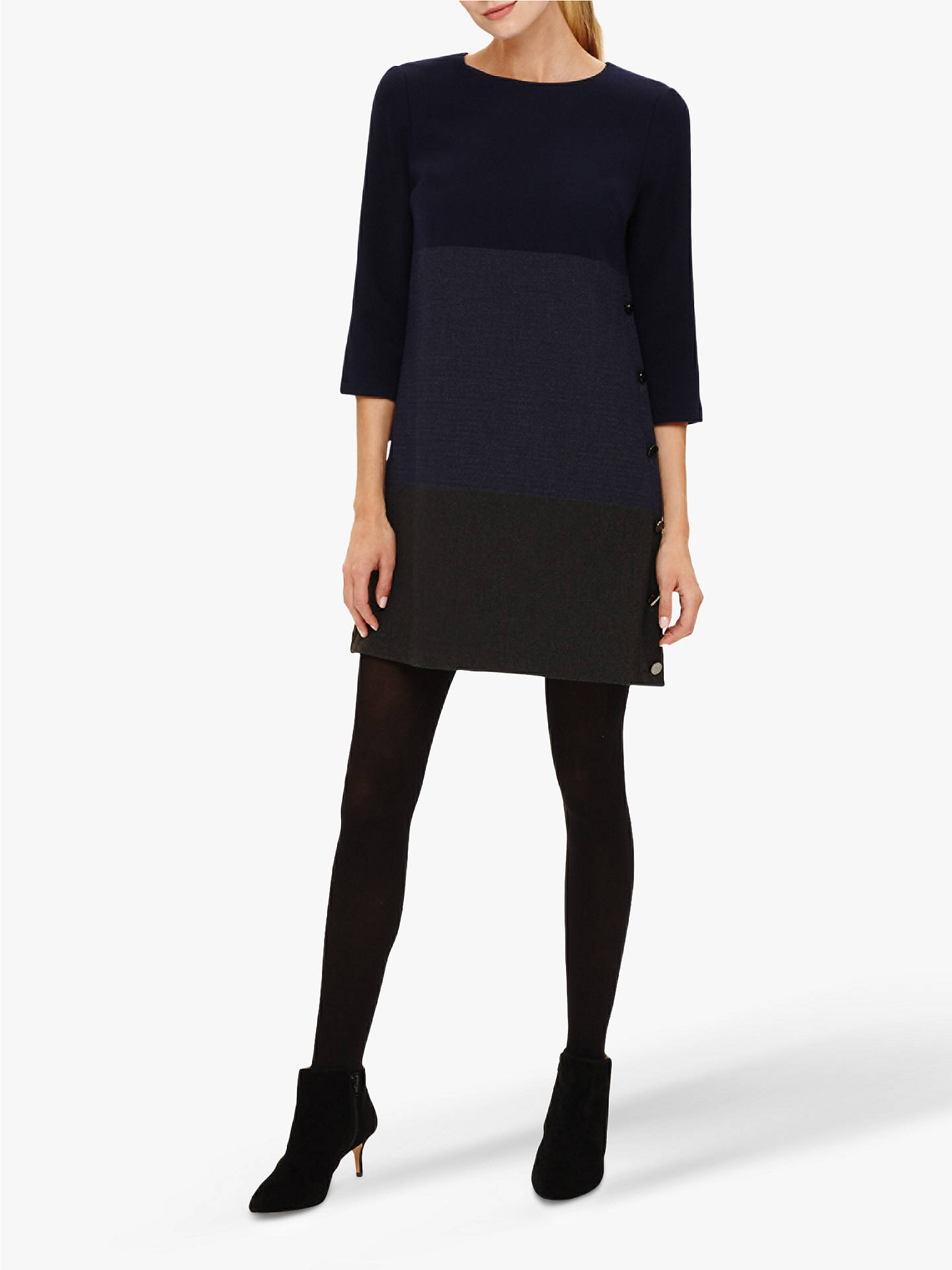 BuyPhase Eight Hillary Dress, Navy/Charcoal, 8 Online at johnlewis.com