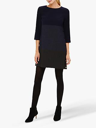 Phase Eight Hillary Dress, Navy/Charcoal