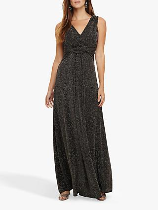 Phase Eight Katia Maxi Dress, Black/Bronze