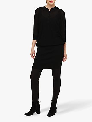 Phase Eight Becca Shirt Dress, Black