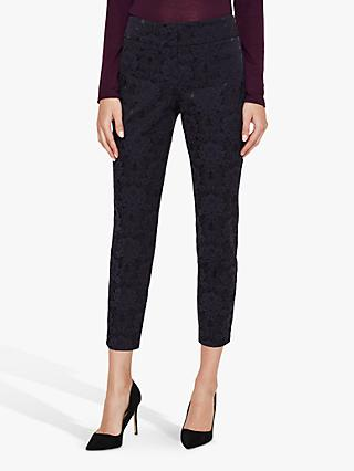 Phase Eight Lil Jacquard Trousers, Navy/Black