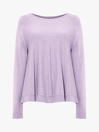 Phase Eight Terza Knitted Jumper, Bright Lavender