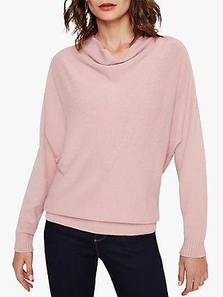 Phase Eight Cheri Cowl Neck Knit Jumper, Soft Pink