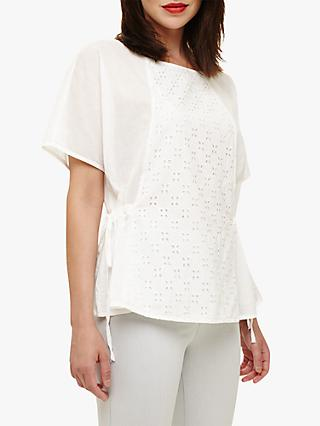 Phase Eight Ami Broidery Blouse, White