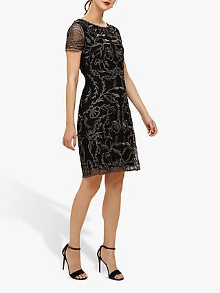 Phase Eight Alannah Dress, Black/Gunmetal