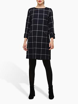 Phase Eight Hermione Check Dress, Navy/Grey