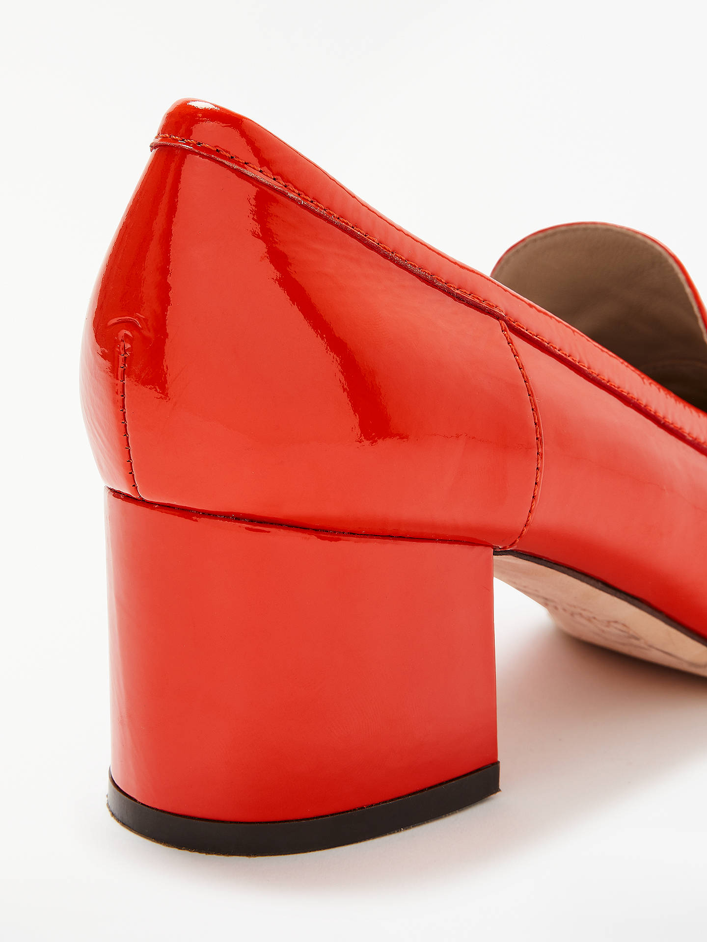 Buy Boden Alicia Block Heel Loafers, Gladioli Patent Leather, 5 Online at johnlewis.com