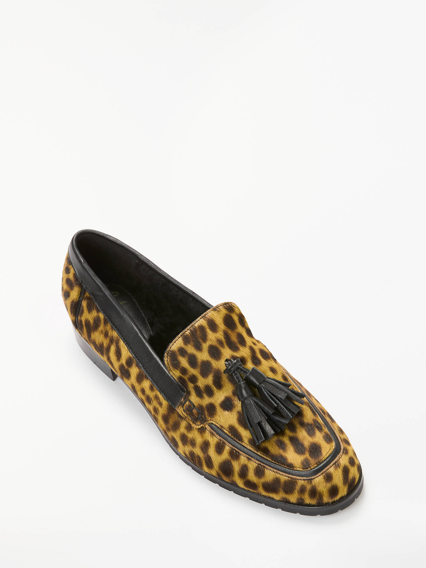 Buy Boden Aria Shearling Leopard Print Loafer, Tan, 7 Online at johnlewis.com