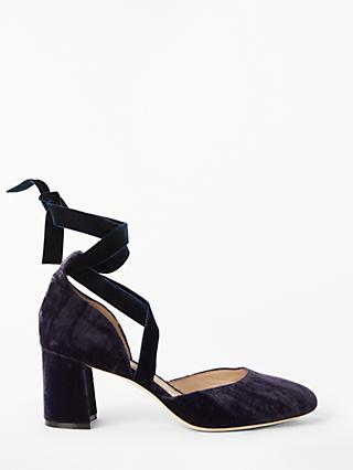 Boden Phoebe Ankle Tie Block Heel Court Shoes