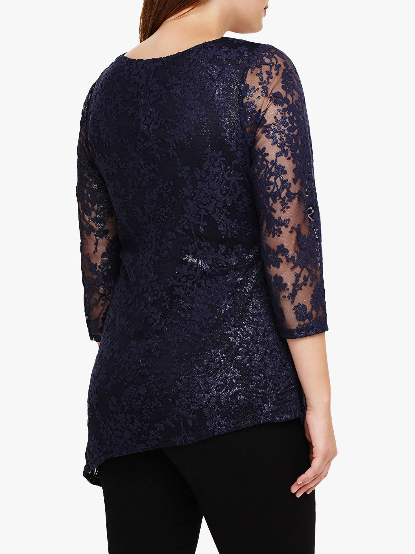 Buy Studio 8 Alana Asymmetric Top, Navy, 14 Online at johnlewis.com