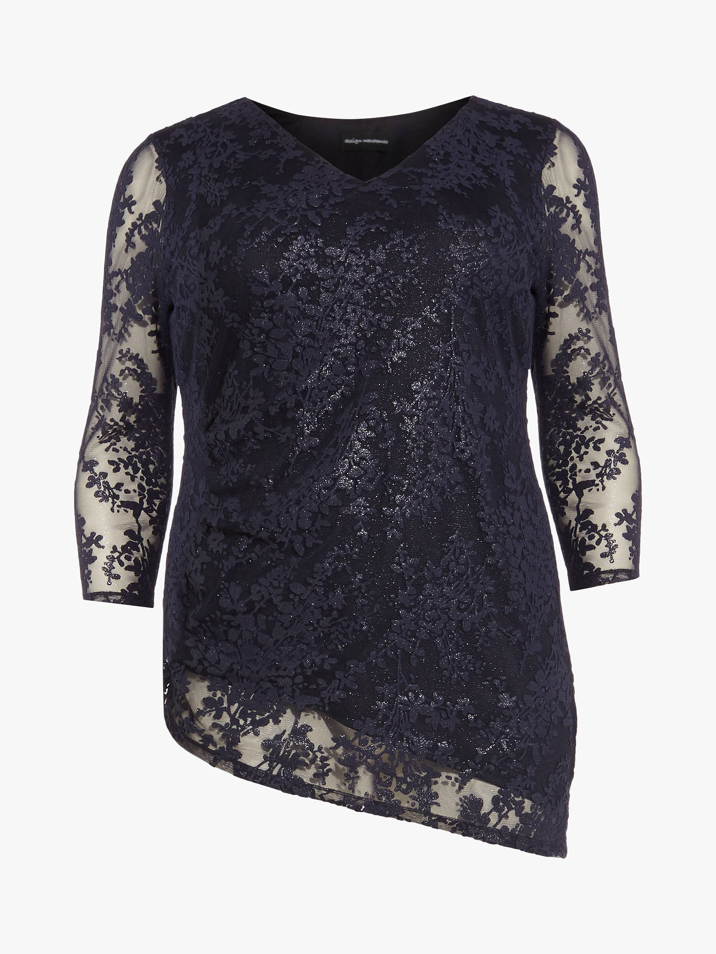 Buy Studio 8 Alana Asymmetric Top, Navy, 22 Online at johnlewis.com