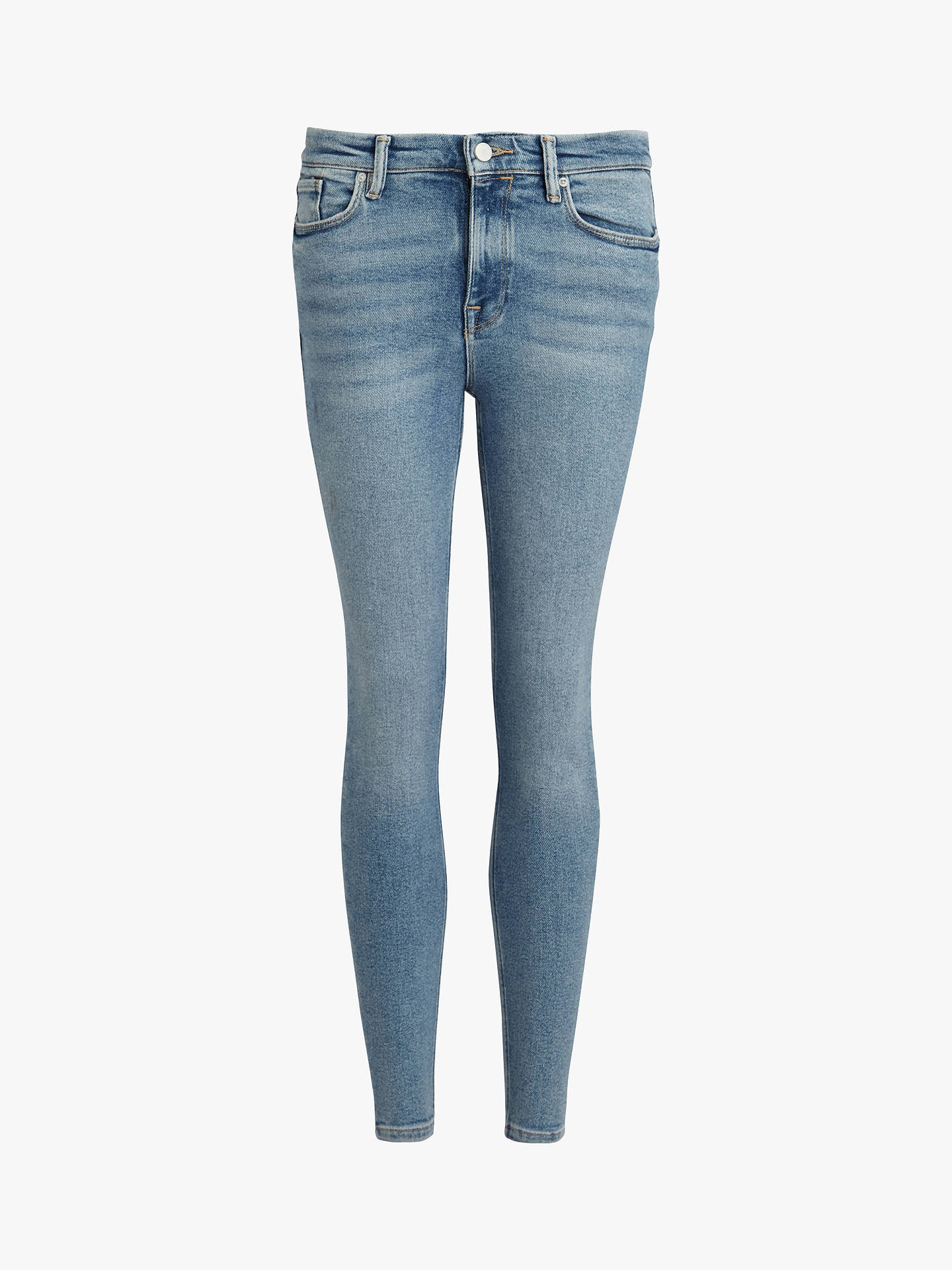 Buy AllSaints Grace Skinny Jeans, Indigo Blue, 25R Online at johnlewis.com