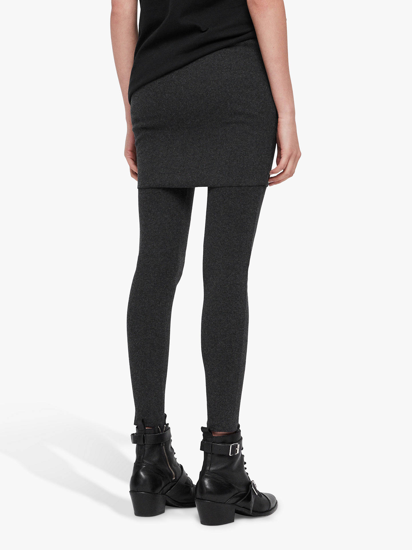 Buy AllSaints Raffi Pencil Leggings, Charcoal Grey, L Online at johnlewis.com