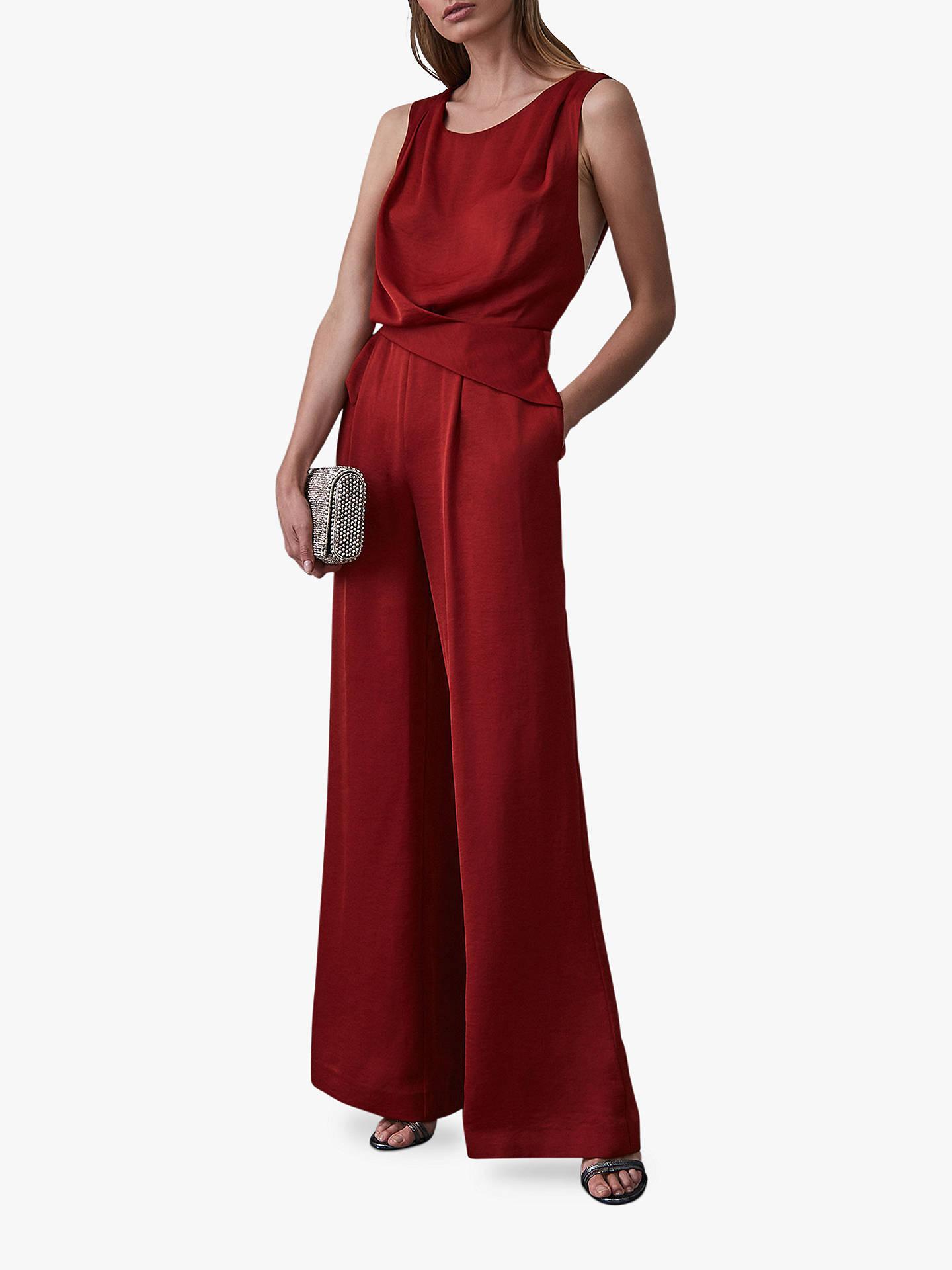 638753612 Buy Reiss Benita Draped Sleeveless Jumpsuit, Berry, 6 Online at  johnlewis.com ...