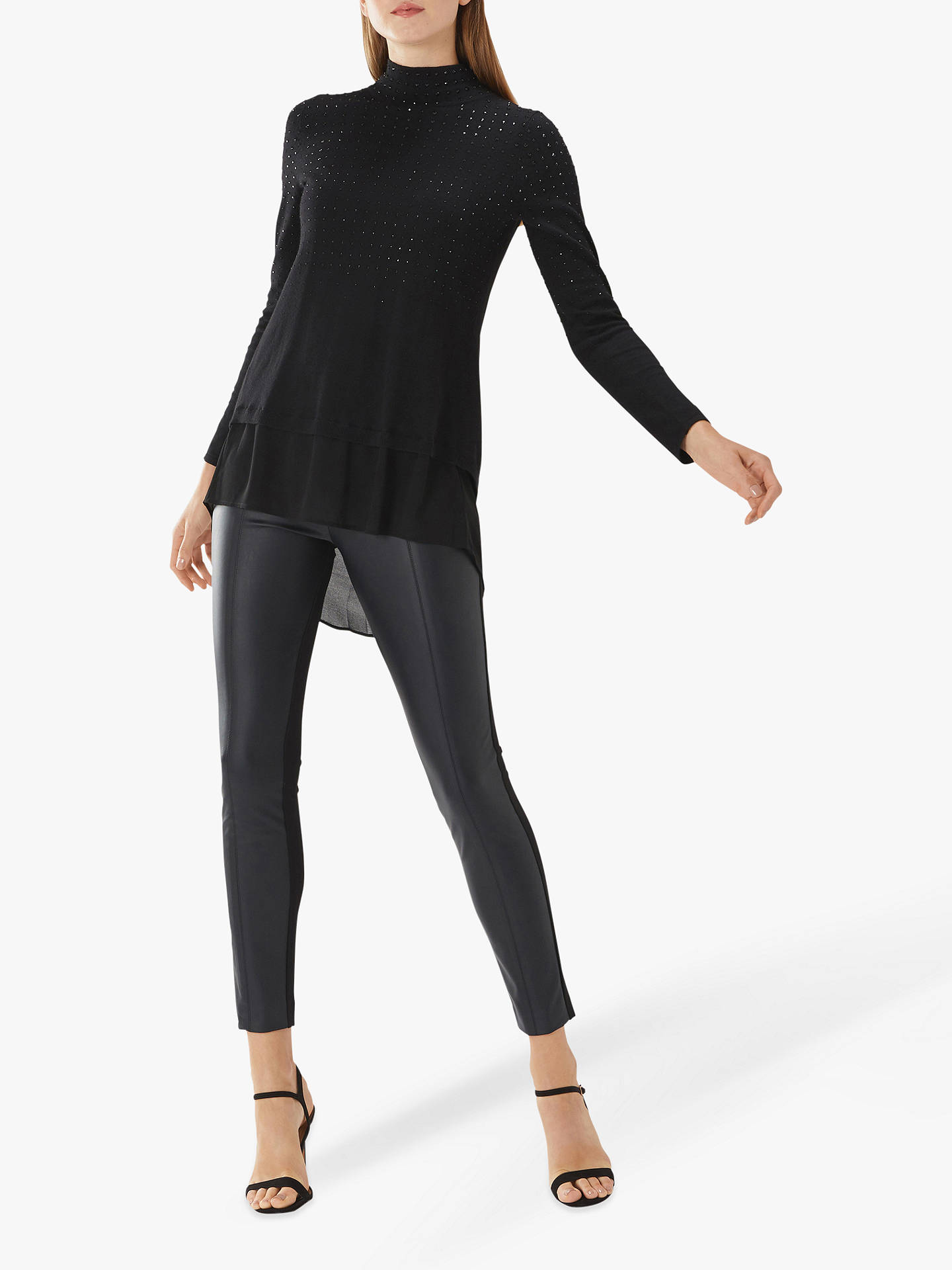 BuyCoast Otis Hotfix Knit Top, Black, 12 Online at johnlewis.com