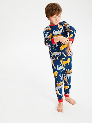 John Lewis & Partners Boys' Safari Pyjamas, Pack of 2, Multi