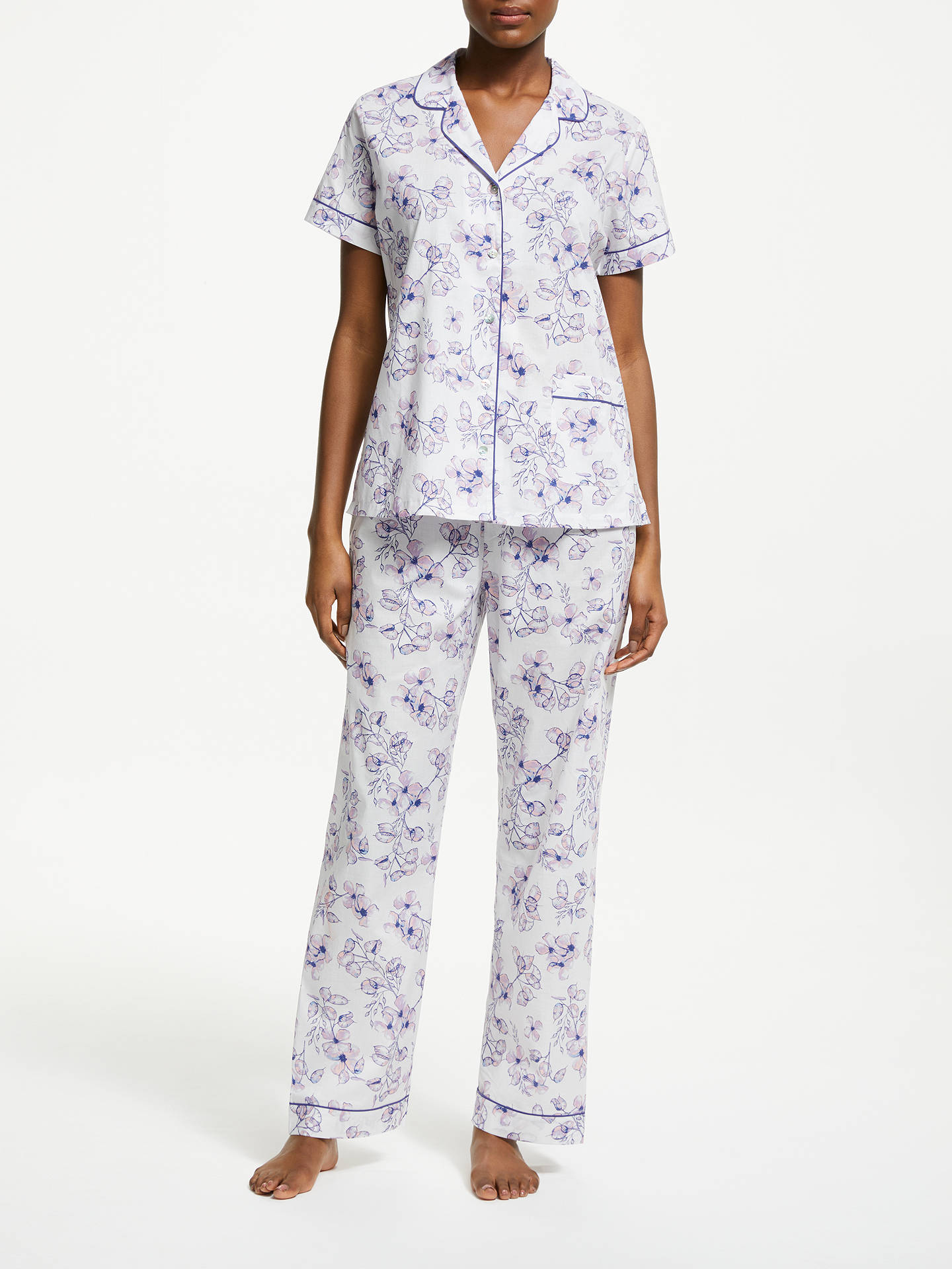 396770703ae Buy John Lewis   Partners Honesty Floral Print Cotton Pyjama Set
