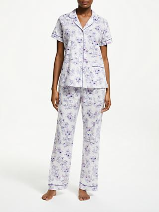 John Lewis   Partners Honesty Floral Print Cotton Pyjama Set c916b7ed1