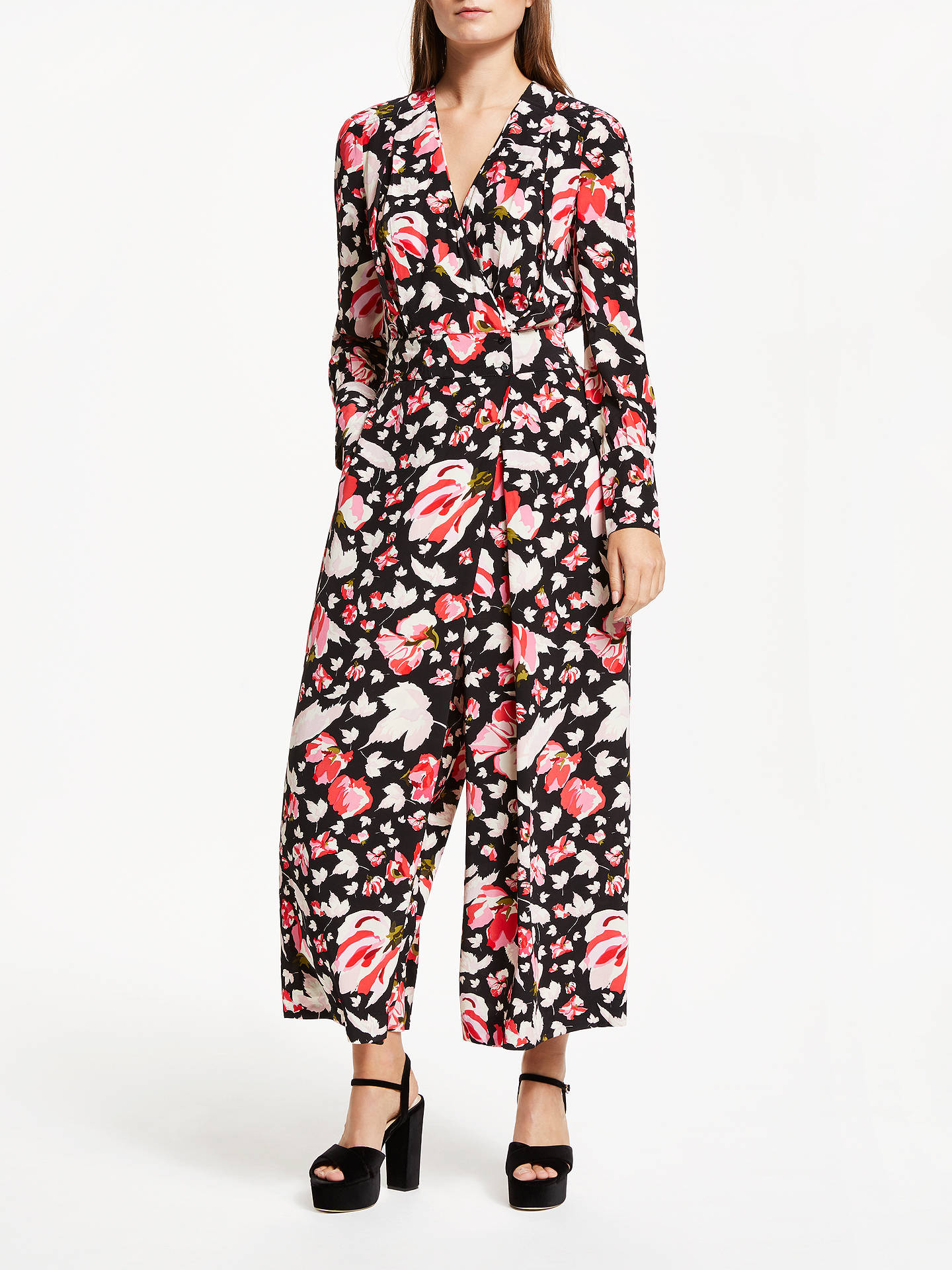 BuySomerset by Alice Temperley Carnation Print Jumpsuit, Black Print, 12 Online at johnlewis.com
