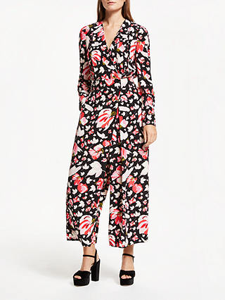 Buy Somerset by Alice Temperley Carnation Print Jumpsuit, Black Print, 12 Online at johnlewis.com