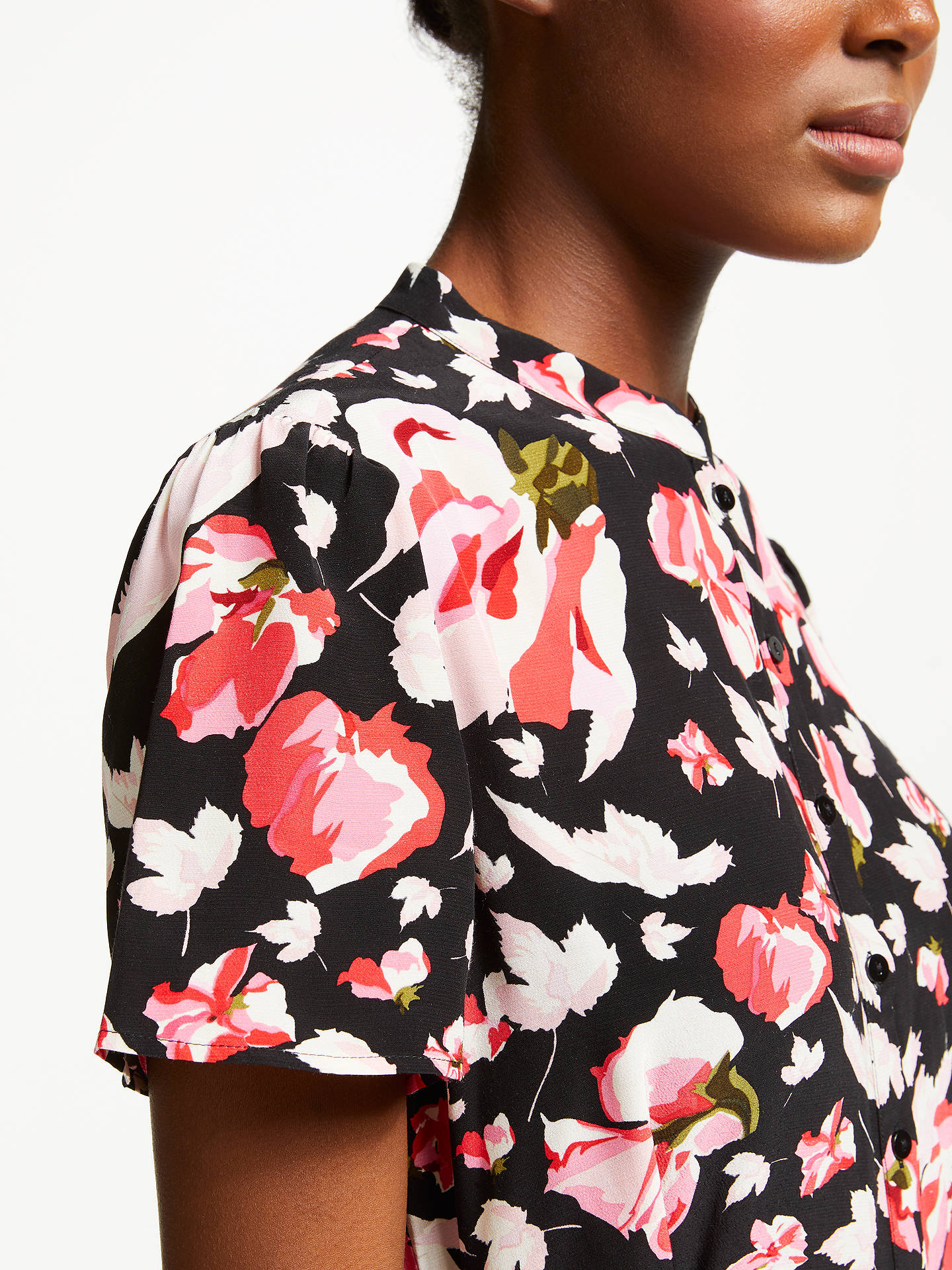 BuySomerset by Alice Temperley Carnation Print Shirt Dress, Black Print, 10 Online at johnlewis.com