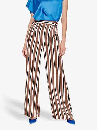 Damsel in a Dress Monti Wide Leg Stripe Trousers, Neutral